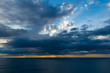 Cielos nubosos espectaculares fotografiados desde los acantilados de Sierra Helada en Benidorm(Alicante)España