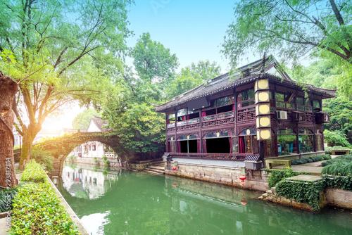 Spoed Fotobehang Olijf Shaoxing Ancient Town, Zhejiang