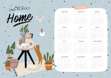 Wall Calendar. 2020 Yearly Pla...