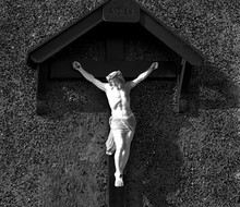 Jesus On The Cross In Black And White