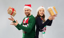 People And Holidays Concept - ...
