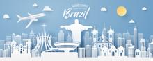 Paper Cut Of Brazil Landmark, ...