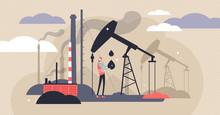 Oil Industry Vector Illustrati...