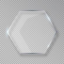 Vector Hexagon Shiny Glass Fra...