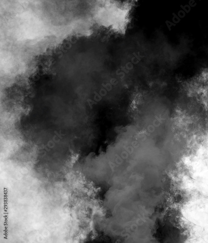 Photo  dense black cloud of smoke after the explosion