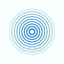 Identification Process. Abstract Background. Blue Rings Sound Wave And Line In A Circle. Sound Wave Wallpaper. Radio Station Signal. Circle Spin Vector Background.