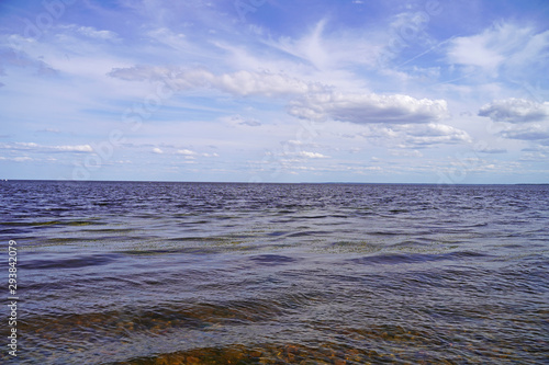 Fotografering  Lake Ladoga on a sunny day