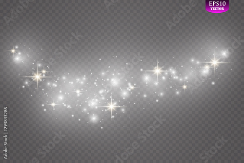 Fototapeta Glow light effect. Vector illustration. Christmas flash Concept. obraz