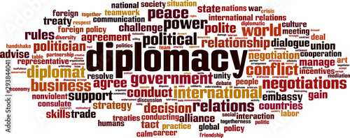 Fotografía Diplomacy word cloud