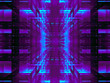 canvas print picture Abstract tech background with glowing grid - digitally generated image