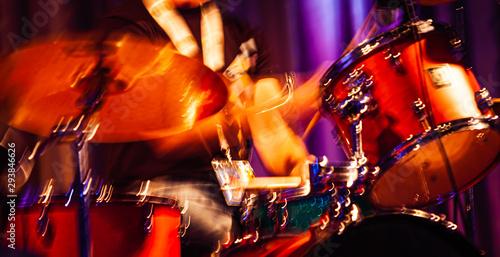 Abstract drummer concert. - 293846626