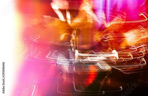 Abstract drummer concert. - 293846646