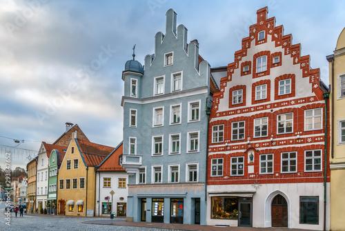 Altstadt street in Landshut, Germany © borisb17