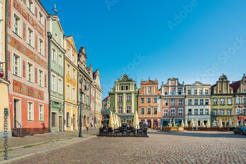 POZNAN, POLAND - September 2, 2019: Poznan Town Hall is a historic city hall in the city of Poznan, Poland