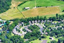 Aerial Image Shows Urban Spraw...