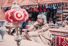 Tourist Exploring Jordanian An...