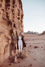 Tourist Exploring Jordanian De...