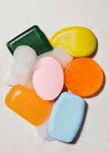 Close Up Of Variety Of Soaps