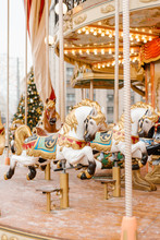 Beautiful Horses On Merry-go-r...