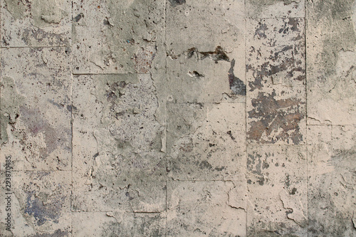 Foto auf AluDibond Alte schmutzig texturierte wand Wall texture on a city street, background blank for design with copy space for lettering or text.