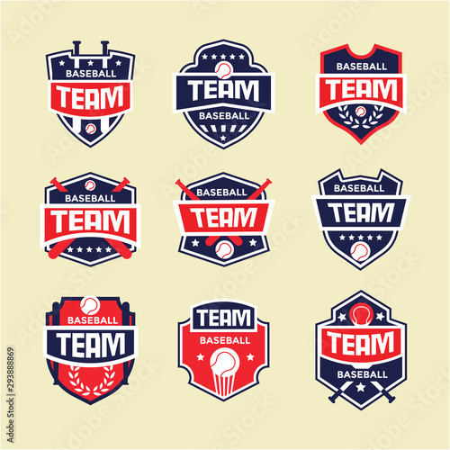 Cuadros en Lienzo  Modern baseball badge, logo, and design template