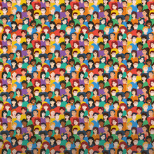 Colorful Pattern Of Young People.Vector