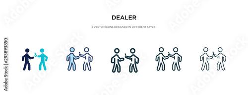 Fototapeta dealer icon in different style vector illustration