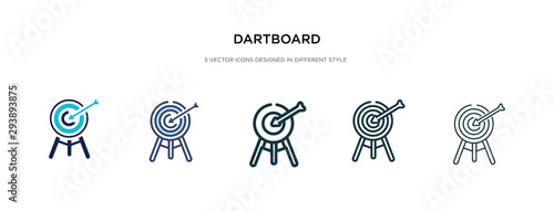 Fotomural dartboard icon in different style vector illustration