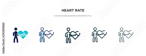 heart rate icon in different style vector illustration Canvas Print
