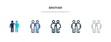 Brother Icon In Different Styl...