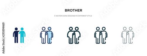 Fotografia, Obraz brother icon in different style vector illustration