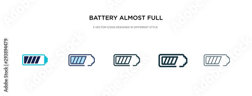 battery almost full icon in different style vector illustration Wallpaper Mural