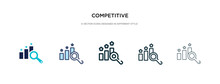 Competitive Icon In Different ...