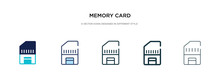 Memory Card Icon In Different ...