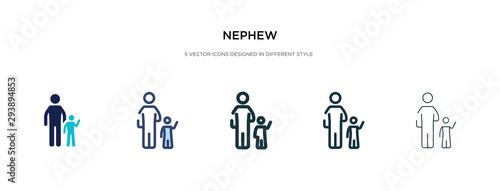 Vászonkép nephew icon in different style vector illustration