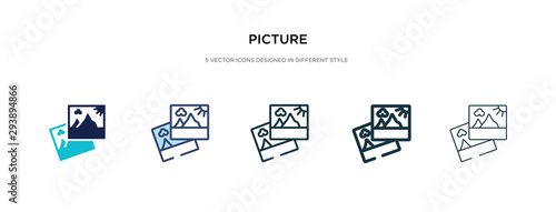 picture icon in different style vector illustration Canvas