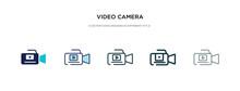 Video Camera Icon In Different...