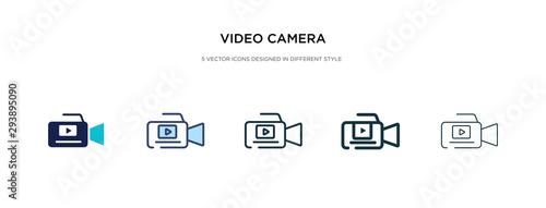 Fotografia video camera icon in different style vector illustration