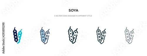 Cuadros en Lienzo soya icon in different style vector illustration