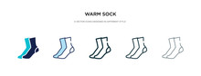 Warm Sock Icon In Different St...