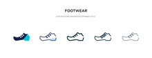 Footwear Icon In Different Sty...