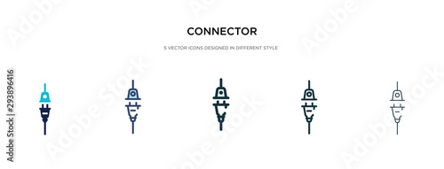 Cuadros en Lienzo connector icon in different style vector illustration