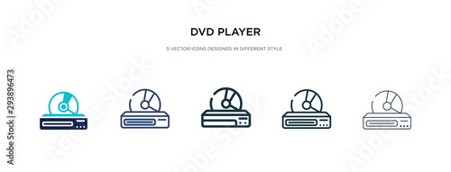 Fotografía dvd player icon in different style vector illustration
