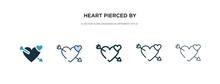 Heart Pierced By An Arrow Icon...