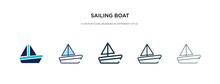 Sailing Boat Icon In Different...