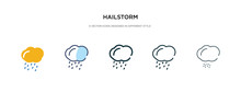 Hailstorm Icon In Different St...