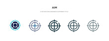 Aim Icon In Different Style Ve...
