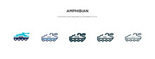 Amphibian Icon In Different St...