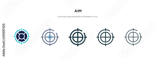 Photo aim icon in different style vector illustration