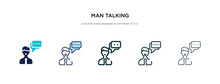 Man Talking Icon In Different ...